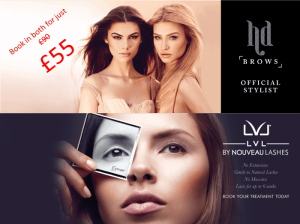 HD Brows and LVL Lashes offer