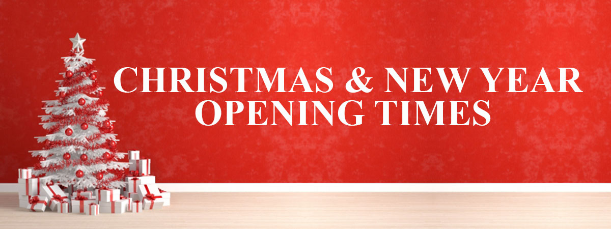Christmas & new Year Opening Hours