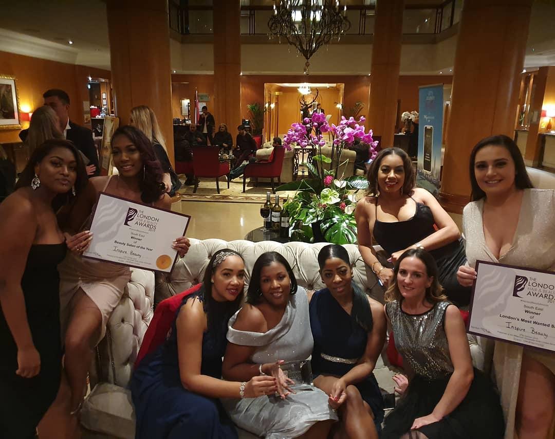 inspire beauty win london hair and beauty awards 2019