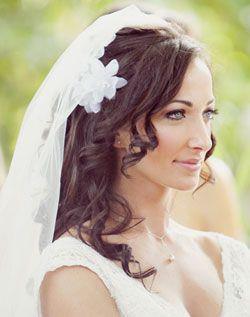 Bridal Wedding Hair Salon Curly Brown